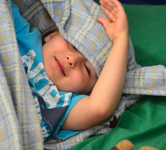 Enfant période de repos